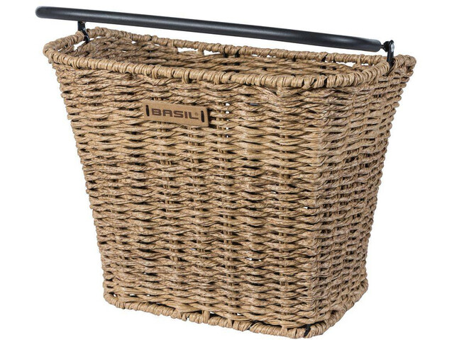 Basil Bremen Front Wheel Basket Includes BasEasy/Klickfix adapter plate Rattan look seagrass